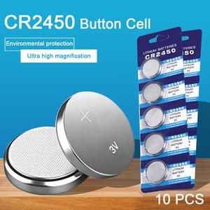 10PCS CR2450 Watch Battery But
