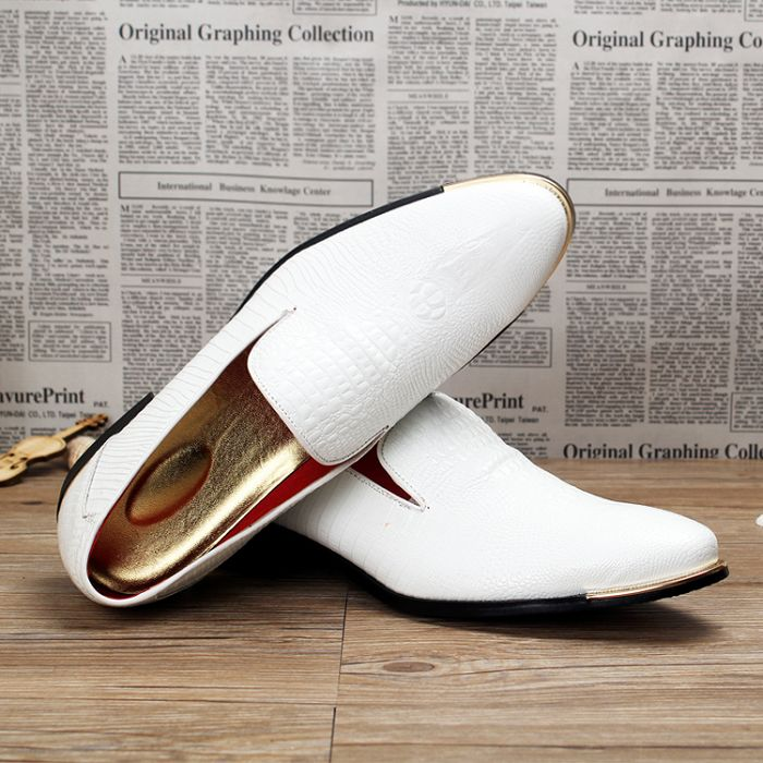Image 5 - New 2019 Autumn Men's Leather Loafers Casual Shoes Fashion Mens Snakeskin Pattern Driving Shoes Breathable Man Flats Moccasins-in Men's Casual Shoes from Shoes