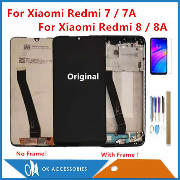 Di alta Qualità Per Xiaomi Redmi 7 Redmi 7A Redmi 8 Redmi 8A Display LCD Con Touch Screen Digitizer Sensore Con telaio Con I Kit