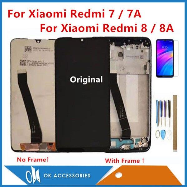 ЖК-дисплей с сенсорным экраном и рамкой, для Xiaomi Redmi 7, Redmi 7A, Redmi 8, Redmi 8A, Redmi 9A/9C, с комплектом инструментов