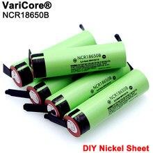 2021 original novo ncr18650b 3.7 v 3400mah 18650 baterias recarregáveis da folha do níquel da soldadura da bateria do lítio