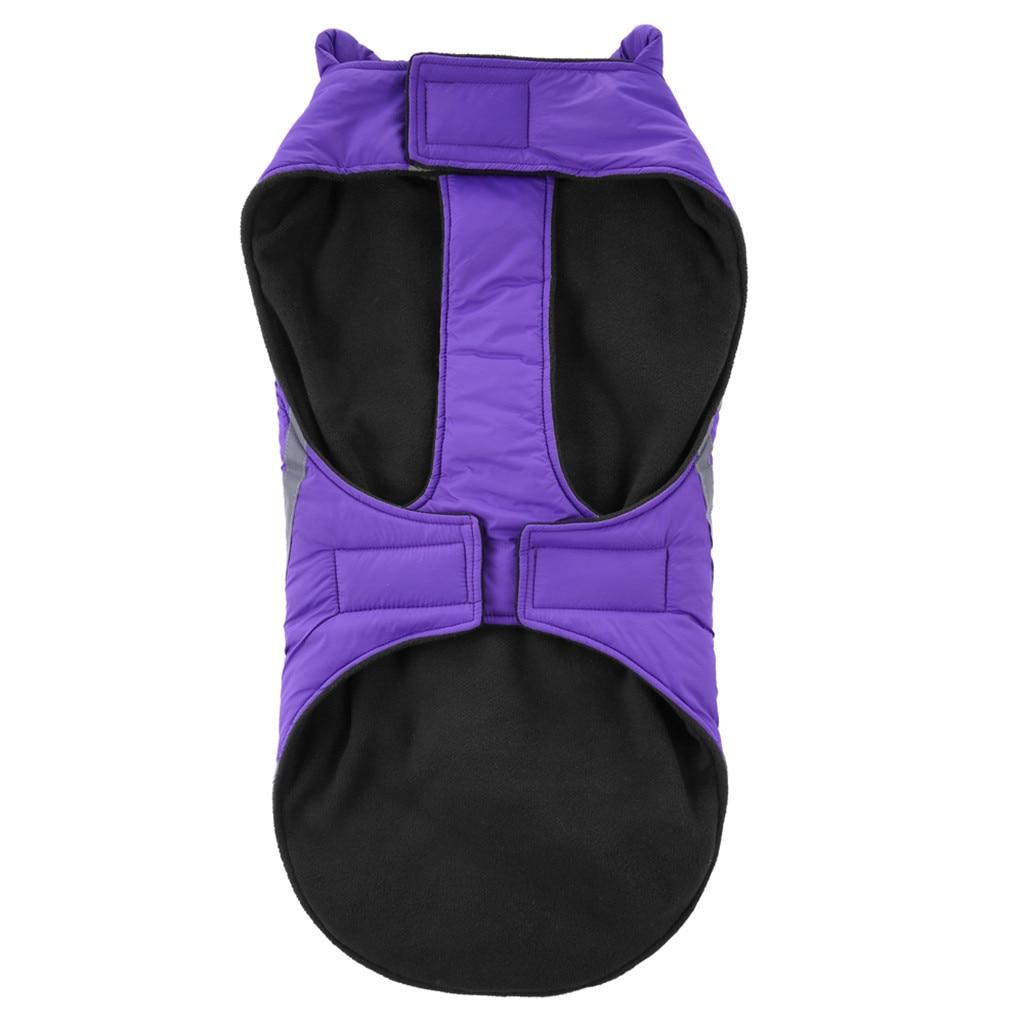 Теплая одежда для собак, светоотражающая водонепроницаемая куртка для домашних питомцев, зимнее пальто, одежда для щенков, лыжный костюм для маленьких, средних и больших собак, французского бульдога-2