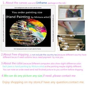 Image 5 - Mintura Balletdanser Foto Handgeschilderde Abstract Paletmes Schilderijen Op Canvas Wall Art Voor Woonkamer Home Decor