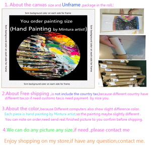 Image 5 - Mintura בלט רקדנית תמונה יד צבוע מופשט צבעים סכין ציורי שמן על בד קיר אמנות לסלון בית תפאורה