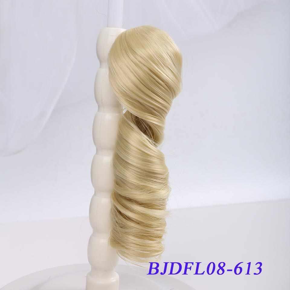 Bybrana lange krullend haar 30cm * 100cm en 15cm * 100cm bjd DIY pruik voor poppen gratis verzending