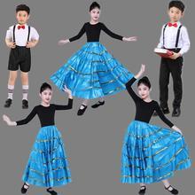 Новые детские Flamengo Gypsy танцевальный костюм Дети танец живота фламенко юбки для девочек Испания представления Бальные 360/540/720 градусов DL5151
