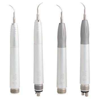Dental Air Scaler Ultrasonic Scaler Super Sonic Scaling Dental Lab Sonic Perio Hygienist with 3 Tips G1/G2/G3 2/4Holes B2/M4