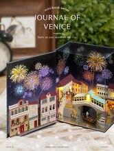 3D Mini Landscape Miniature House Water City Diary Hot Air Balloon Handmade DIY Toys For Children Girls Christmas Gift Art Home