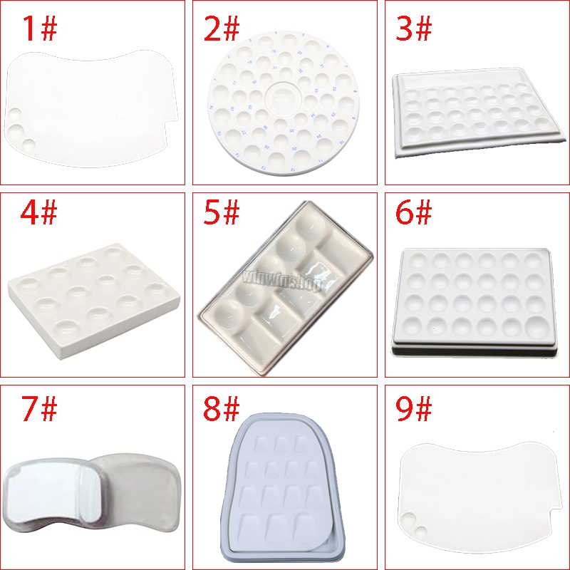 Dental Laboratory Porcelain Watering And Thermal Insulation Moisturizing Porcelain Plate Palette With Tooth Tools