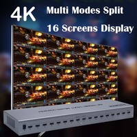 4K 16x1 Picture Splitter Quad HDMI Multi Viewer Switcher 16 In 1 Out Seamless Switch Multiviewer HDTV Display 16 Screen Divider