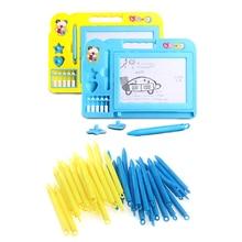 2шт мини дети письмо каракули рисунок доска ручка игрушки магнитный ранний обучение рисование игрушки подарок для детей