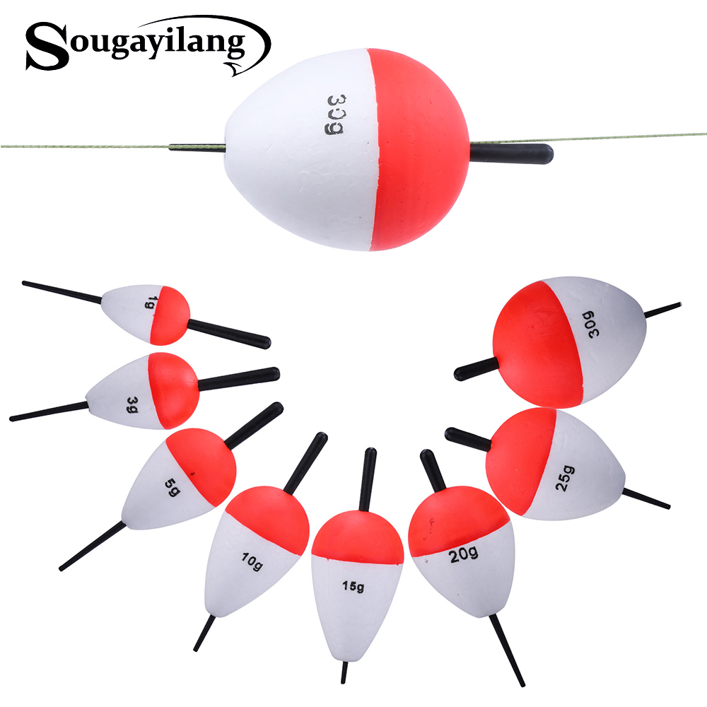 Sougayilang 8pcs/lot EPS Fishing Floats Set 1-30g High Quality Sea Fish Float With Sticks Pesca Fishing Tackle Accessory