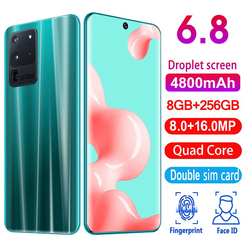 6.8 Inch Galay S20 U Network Free Shipping 8GB RAM 256GB ROM Octa Core 4 Camera Snapdragon 855 2020 Smart Phone Wholesale