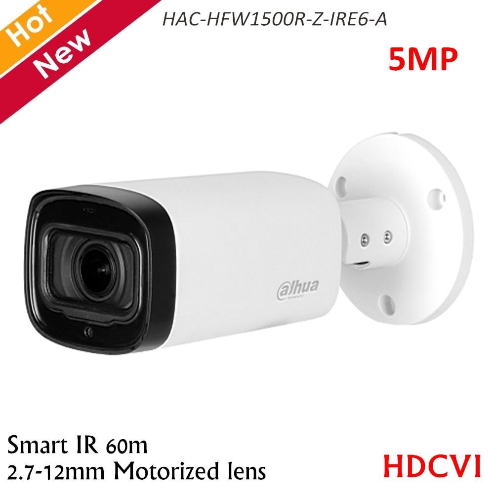 Dahua 5MP HDCVI Camera IR Bullet Camera Built-in MIC 2.7-12mm Motorized Lens Smart IR 60m CCTV Camera HAC-HFW1500R-Z-IRE6-A