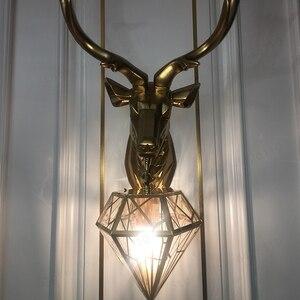 Image 4 - Blubble Nordic Kerst Herten Gewei Wandlamp Creatieve Wandlampen Herten Lamp Slaapkamer Buckhorn Keuken Wandlampen Voor Home Decor