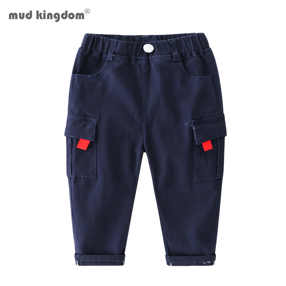 Mudkingdom Boys Cargo Pants Chino Solid Causal Cotton Trousers for Kids 1