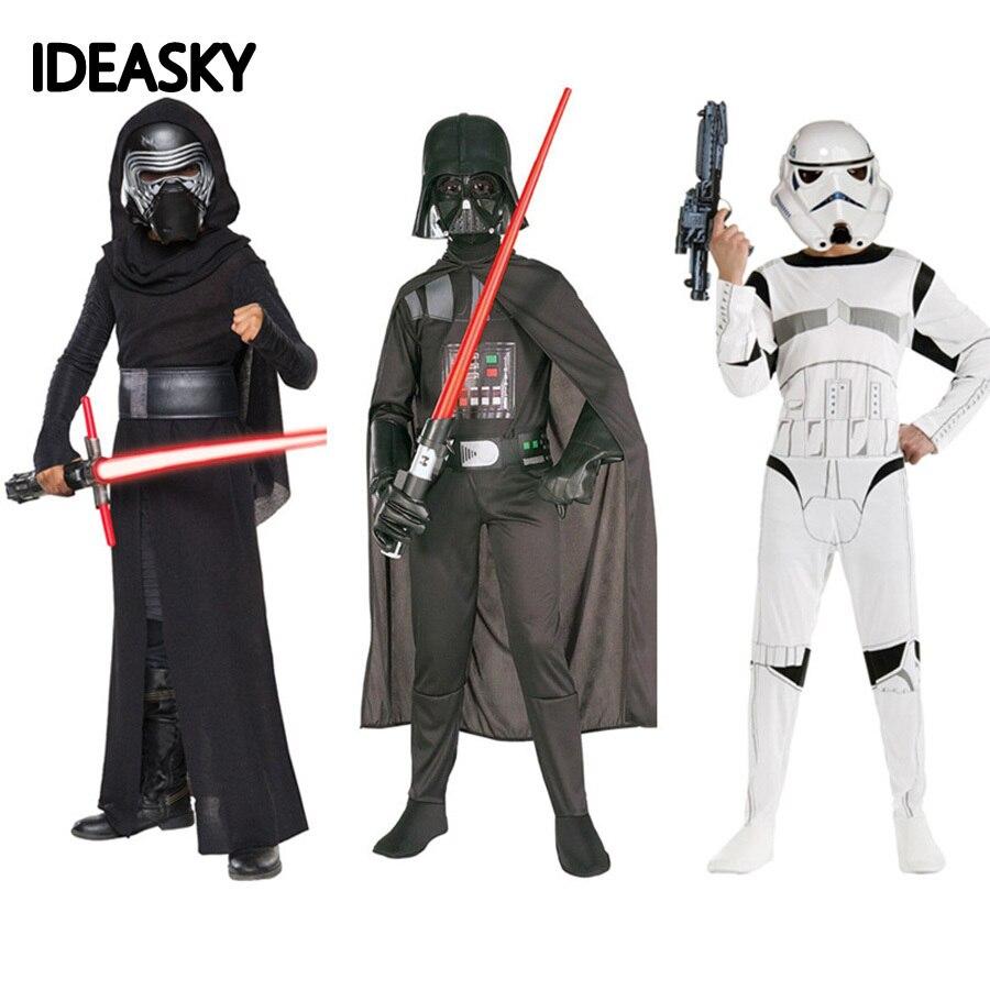 Костюм солдатиков-клон, Пробуждение силы, Кайло Рен, детские костюмы, штурмовик, Дарт Вейдер, маскарадное платье, Детский костюм на Хэллоуин ...