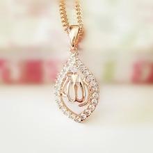 Traditional Women Men Religion Islamic Muslim Jewelry Full Zircon Rose Gold Color Islam Allah Necklace Pendants