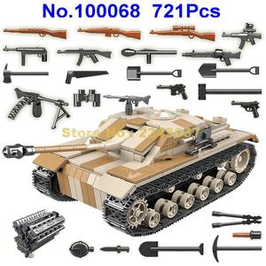 Image 1 -  721pcs ww2 military germany tank military world war ii tank 2  soldier weapon army building blocks Toy