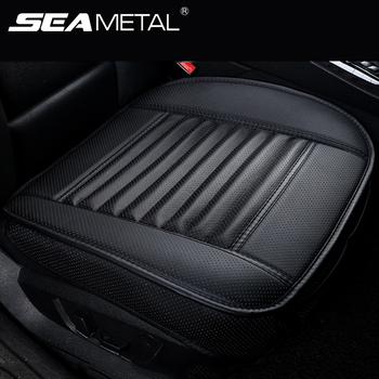Skórzane siedzisko obejmuje poduszka podróżna cztery pory roku pokrycie siedzenia samochodu uniwersalne podkładki maty Protector dla fotelika samochodowego akcesoria samochodowe tanie i dobre opinie SEAMETAL CN (pochodzenie) 48cm Pokrowce i podpory Przechowywanie i Tidying Podstawowa funkcja Auto Seat Cover Car Seat Cover