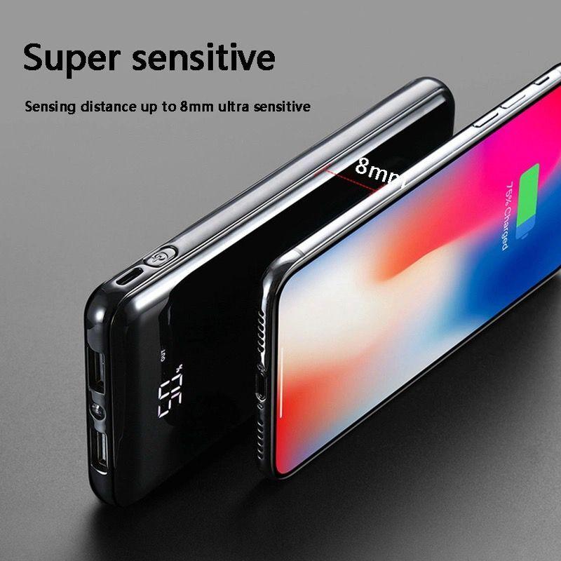 30000 мАч Внешний аккумулятор внешний аккумулятор встроенный беспроводной аккумулятор портативное QI Беспроводное зарядное устройство для iPhone 11 samsung