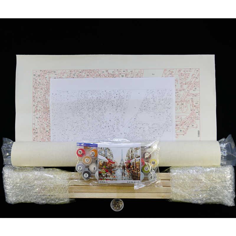 Картина по номерам DIY дропшиппинг 40x50 50x65 см умный эльф и тихий тигр животное холст свадебное украшение художественная картина подарок