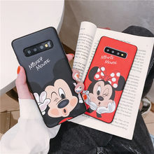 DCHZIUAN Mickey Minnie etui na telefon do Samsung Galaxy S10 Plus S8 S9 Plus uwaga 8 uwaga 9 przypadku Cute Cartoon tylna pokrywa Coque(China)
