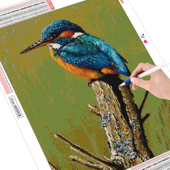 HUACAN 5D DIY Diamond Painting Bird Full Drill Square Round Diamond Embroidery Mosaic Animal Decorations