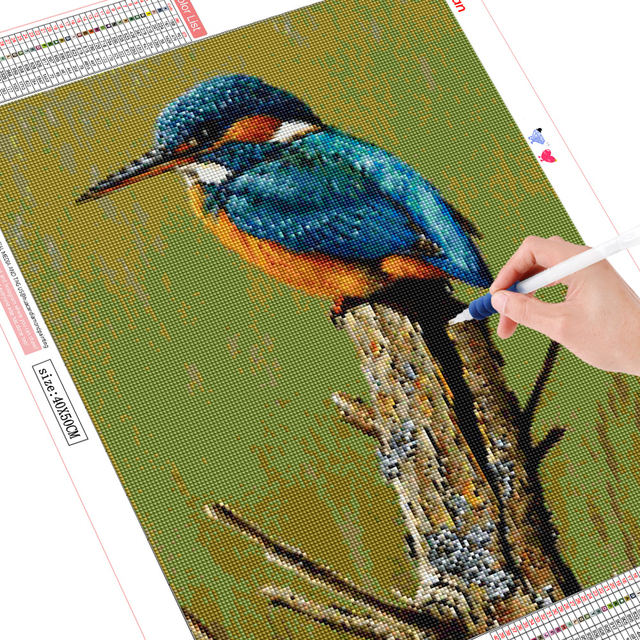 HUACAN 5D DIY Diamond Painting Bird Full Drill Square Round Diamond Embroidery Mosaic Animal Decorations Home