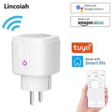 Wi fi inteligente sem fio plug ue eua reino unido adaptador de controle remoto voz energia do monitor tomada temporizador para alexa google casa