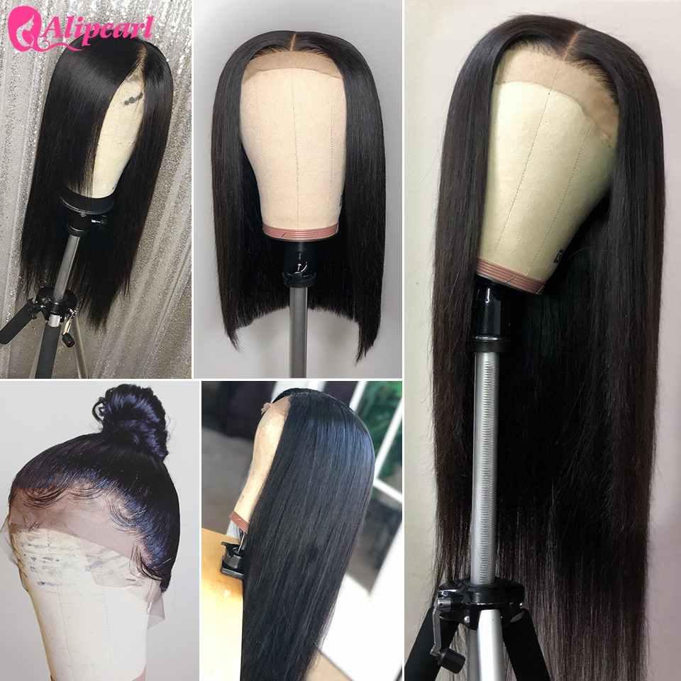 AliPearl Haar Spitze Front Menschliches Haar Perücken 150 180 250 Dichte Brasilianische Gerade Menschenhaar Perücken Pre Gezupft Ali Perle haar Perücke
