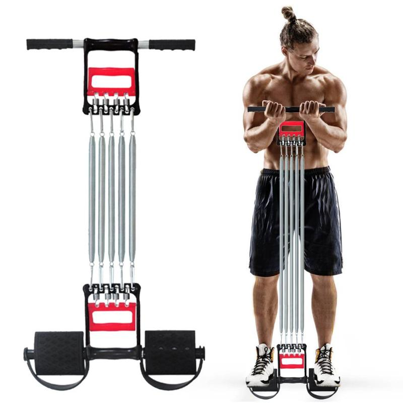 Spring Chest Developer Expander Men Fitness Tension Puller Muscles Exercise Workout Fitness Equipment Resistance Bands