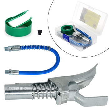 """Hose Kit High Pressure 10000PSI Grease Gun Coupler Coupling End Fitting 1/8"""" NPT Adapter Connector Lock On Tool Accessories"""