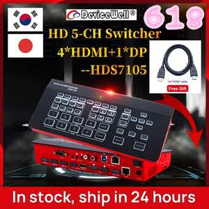 Switcher TV Youtube Live Devicewell Hds7105 Atem Mini Super 4-Hdmi--1 for New Media Ins