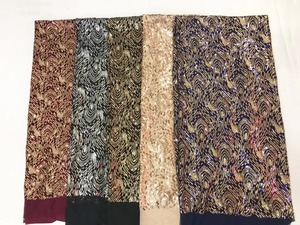 Image 5 - 2019 African sequins Laces Fabrics French tulle Lace Fabric with sequin High quality Nigeria Lace Fabric
