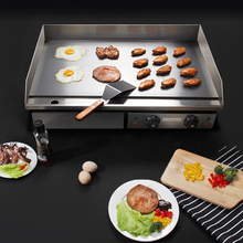 4.4KW Stainless Steel Electric Griddle Countertop Commercial Hot Plate BBQ Grill 220~240V grlha de churrascos bbq brazil electry 220v commercial stainless steel all flat grill griddle bbq plate electric contact grillplate