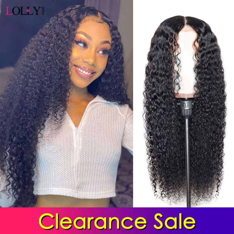 Clearance Sale Lace Front Human Hair Wigs Curly Pre-Plucked Hairline With Baby Hair Brazilian Remy Human Hair Lace Front Wig 150
