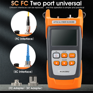 Image 2 - Compactyco AUA28U/28A Mini 60KM fibra óptica OTDR reflectómetro de fibra óptica incorporado en VFL con FC SC Touch