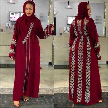 MD-vestido musulmán Abayas para mujer, caftán de Dubái, Túnica de talla grande,...
