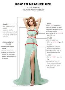 Image 4 - 2020 Popular One Shoulder Long Sleeve Formal Gown Evening Dress Red