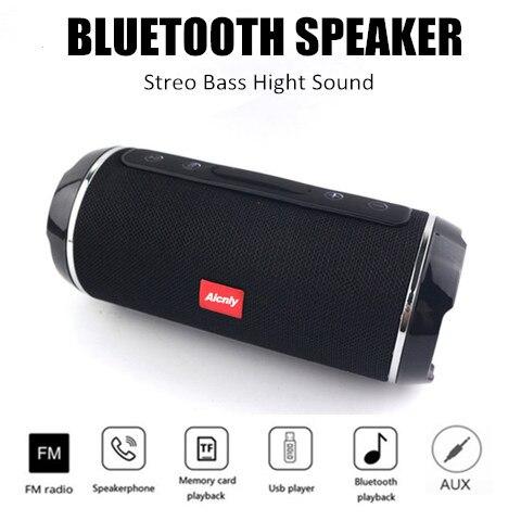 100% Original 10W subwoofer à prova d' água sem fio Bluetooth speaker portátil speaker microphone + Apoio TF FM USB