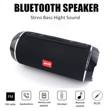 100% Original wireless Bluetooth speaker 10W waterproof subwoofer portable speaker + microphone Support TF FM USB a3 bluetooth v3 0 handsfree speaker w microphone mini usb tf blue black