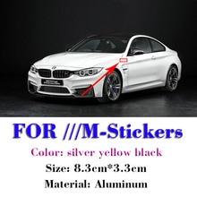 1 шт. M Sport/Мощность комплект эмблемы наклейки значки крыла сбоку крыло логотип для автомобильного стайлинга для BMW M3 M5 320 325 E36 E46 E90 E92 F10 F30