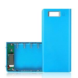 Image 5 - 8*18650 pil tutucu çift USB güç banka pil kutusu cep telefonu şarj DIY Shell kılıf şarj saklama kutusu xiaomi için