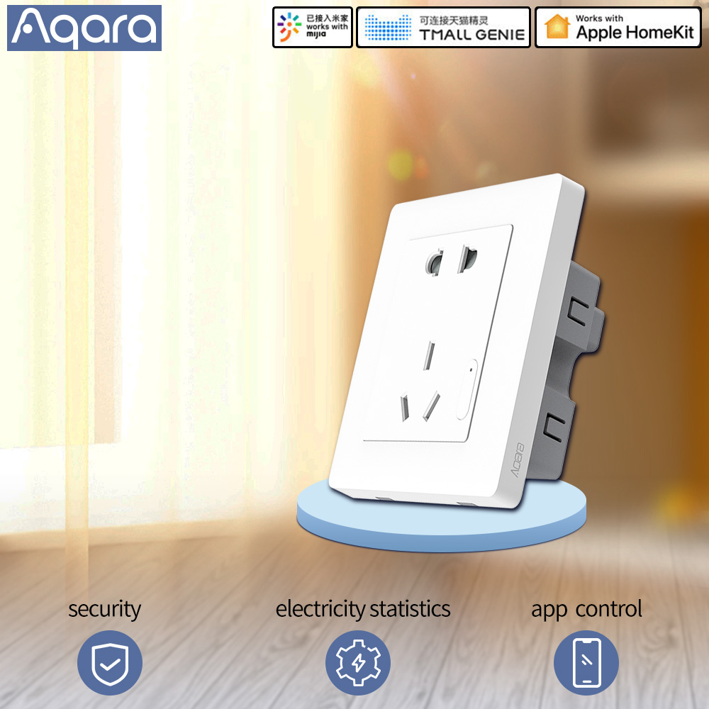 Aqara smart <font><b>socket</b></font> wall switch <font><b>socket</b></font> Plug zigbee app <font><b>Wireless</b></font> <font><b>remote</b></font> control smart <font><b>socket</b></font> smart home For MIhome app image