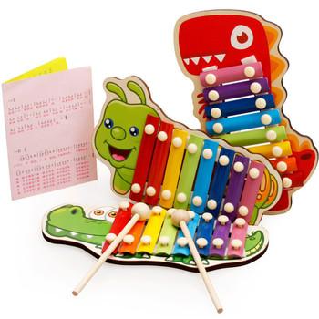 Dziecko Kid zabawki muzyczne drewniany ksylofon Instrument dla dzieci wczesny rozwój mądrości zabawki edukacyjne dla dzieci zabawki tanie i dobre opinie Santtiwodo CN (pochodzenie) 4-6y 7-12y Other Do nauki Nieelektryczna 8 zakresów No Eat LZC620 Unisex Typ klawisza Instruments Music Toys