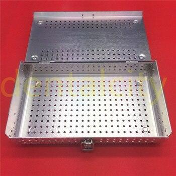 1pc Aluminium Alloy Sterilization Tray Sterilization Case Surgical Instruments box