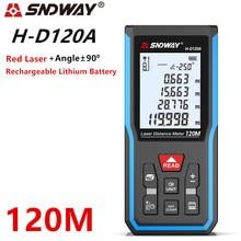 Sndway الليزر Rangefinder الليزر مقياس مسافات المدى مكتشف الرقمية الإلكترونية مستوى ترينا الليزر الروليت شريط القياس حاكم
