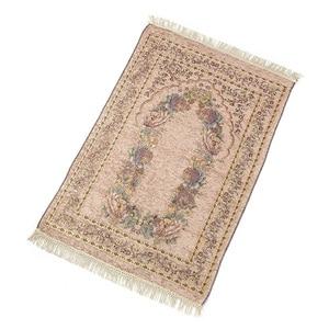 Image 4 - Ev taşınabilir hediyeler katlanır zarif yumuşak Anti kayma dekorasyon yatak odası çiçek halı diz çökmüş hafif seccade pamuk karışımı