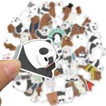 50 шт. Милый мультфильм панда полярный медведь наклейка школа ученик дневник рука бухгалтерская книга канцелярские товары мобильный телефон гитара украшение каваи